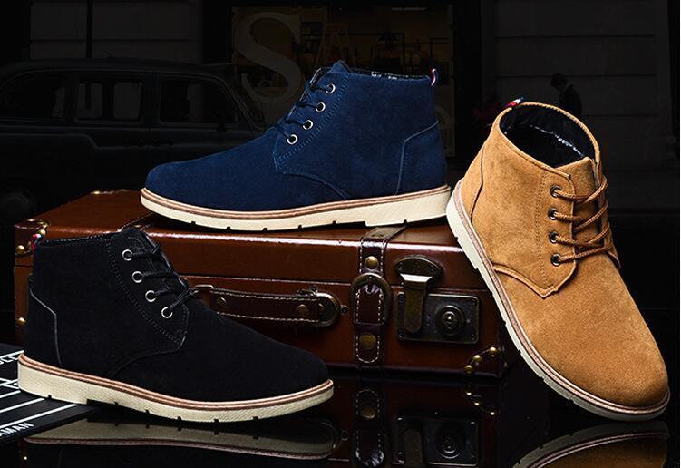 Chaussures d'hiver pour hommes. Bottes en coton pour hommes. Chaussures pour hommes. Chaussures décontractées pour hommes. Chaussures paresseuses. Chaussures d'affaires. Bottes Martin.