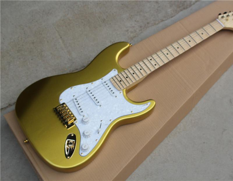 Hot Sale Twinking Gold Electric Guitar With Maple Fretboard And