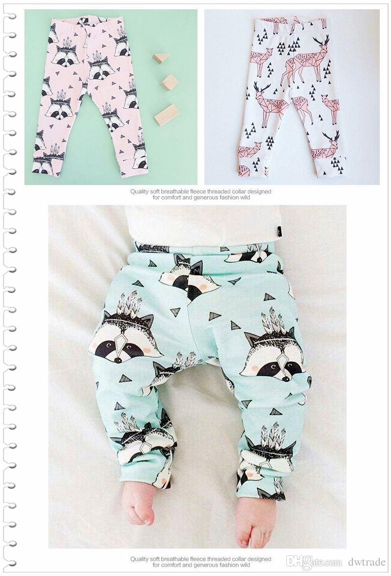 Prettybaby kids 6 patterns animal printed leggings pants cartoon add fleece baby children pants casual clothes PP pants Pt0492#