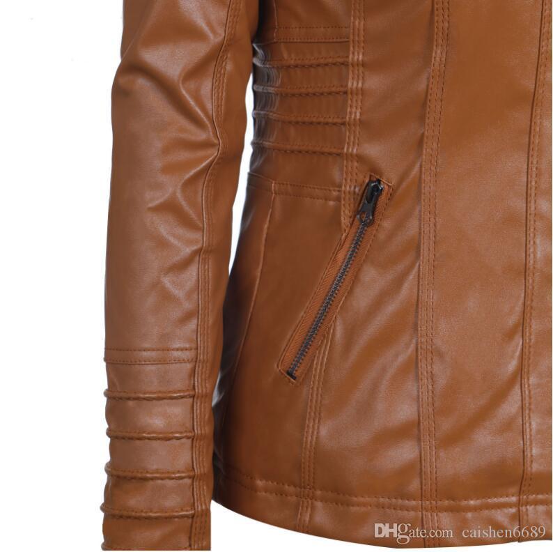 5XL 6XL 7XL 플러스 사이즈 여성 의류 2017 겨울 가짜 가죽 후드 자켓 지퍼가 달린 까마귀 파카 슬림 오토바이 자켓 코트