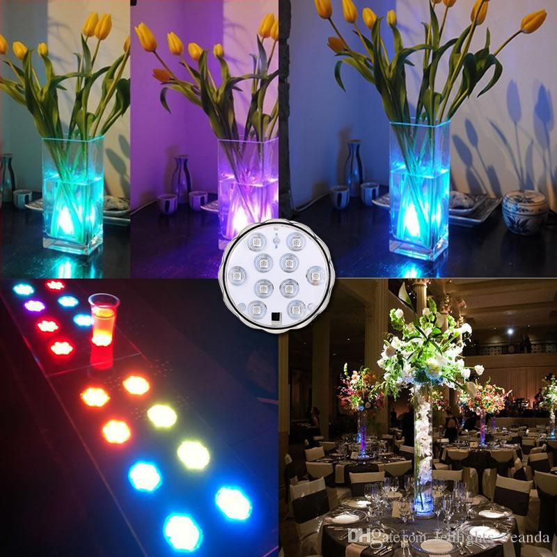 LED Flower vase light fish tank submersible light remote control RGB color changing underwater light for night bar home decoration