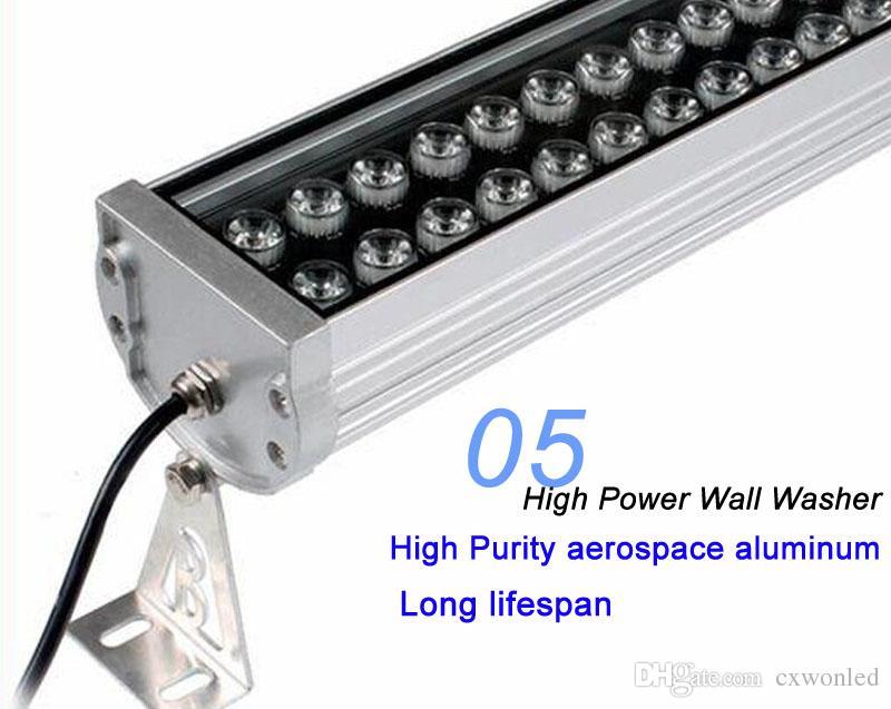 led lumière extérieure super lumineux led lampe mur rondelle RGB 36W lavage mur LED lampe lampes d'inondation coloration lumière