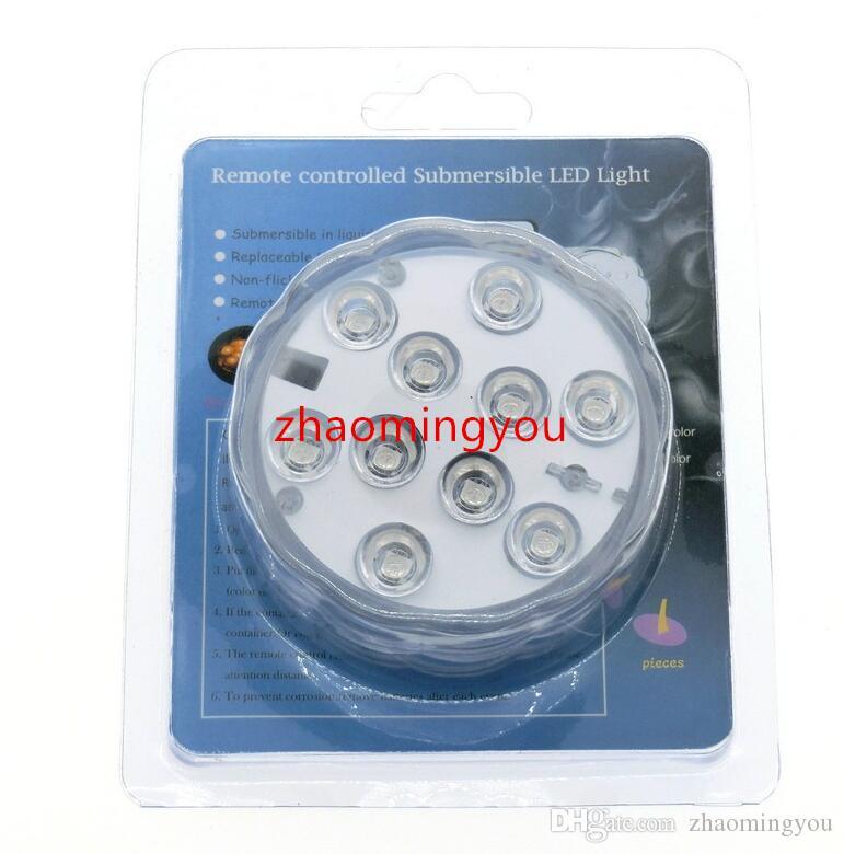 Tapis imperméable pour tasse de caboteur interchangeable de couleur claire submersible à LED avec télécommande IR à 24 touches.
