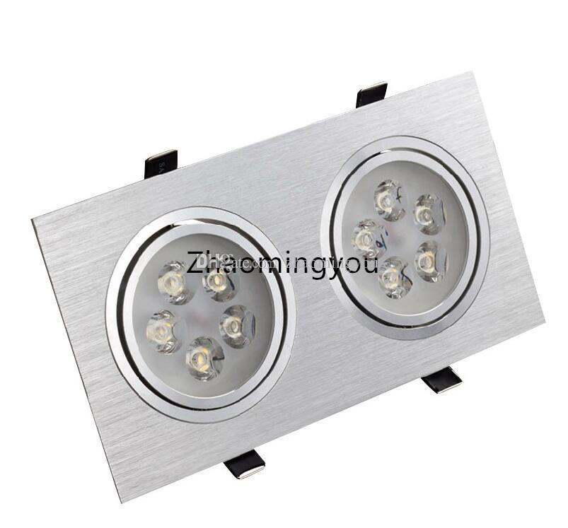 Downlight à LED Carré 3W 5W 6W 7W 9W 10W 14W 15W 21W Encastré Lampe 85-265V Décoration de Cuisine À Domicile Éclairage Blanc Chaud / Cool