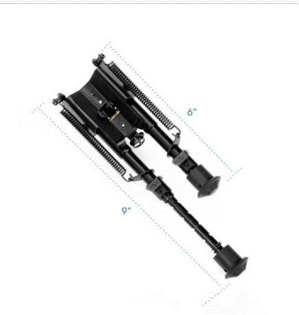 Best-seller Vector Optics Harris Estilo de caça Bipod Mount 6-9 Polegada 6 Níveis w / Weaver Adaptador de Montagem, Conexão Sling
