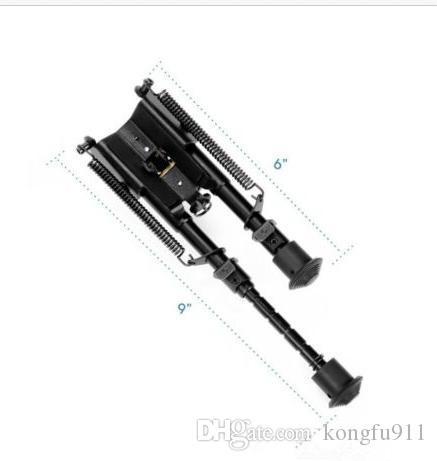 Más vendidos Vector Optics Harris Style caza Bipod Mount 6-9 Inch 6 Levels w / Weaver Mount Adaptador, Sling Connection