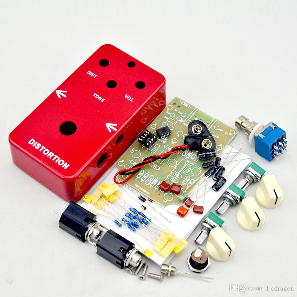 NEW DIY electric Guitar Distortion Effect Pedal switch / Electric pedal guitarra effect kits true bypass+1590B Enclosure