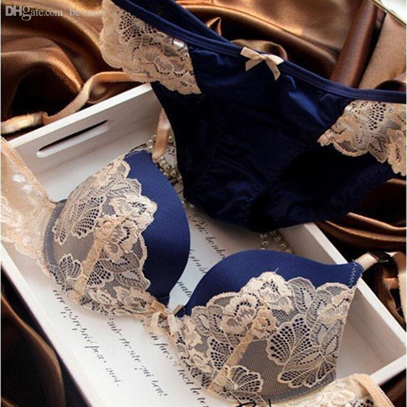 2019 Wholesale Sexy Lingerie Lace Embroidery Bra Sets Bowknot Underclothes  Brand Underwear Women Bras B C Cup Lingerie Set With Brief From Bevarly 55c4b5e05