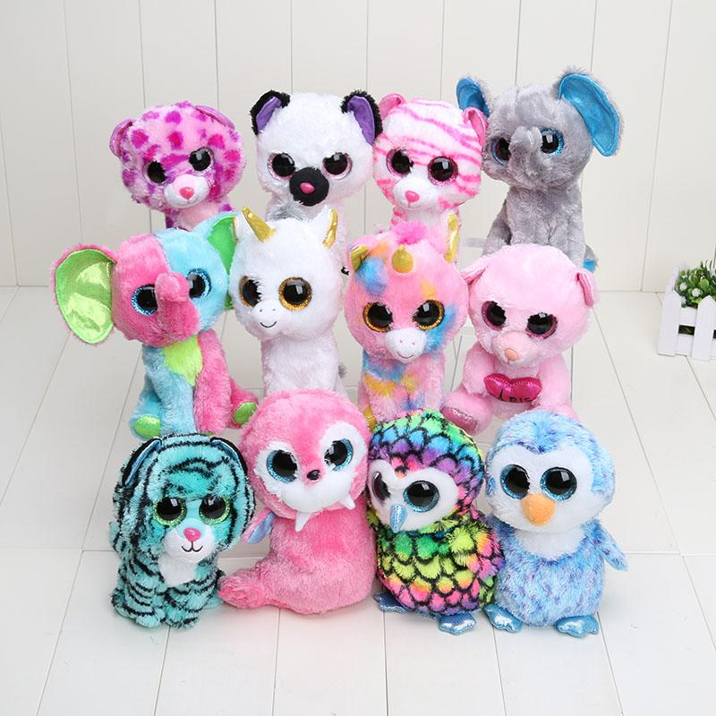 3900303507f 2019 TY Beanie Boos Plush Animals Plush Toys Ty Big Eyes Soft Toys For Kids  From Haifengstore0319