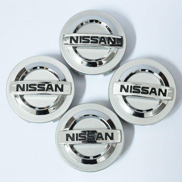 4 Stück Chrom für Nissan Rad Center Hub Caps Hubcap für Nissan Aeolus Primera Altima Micra HINWEIS Qashqai 55/58 / 60mm