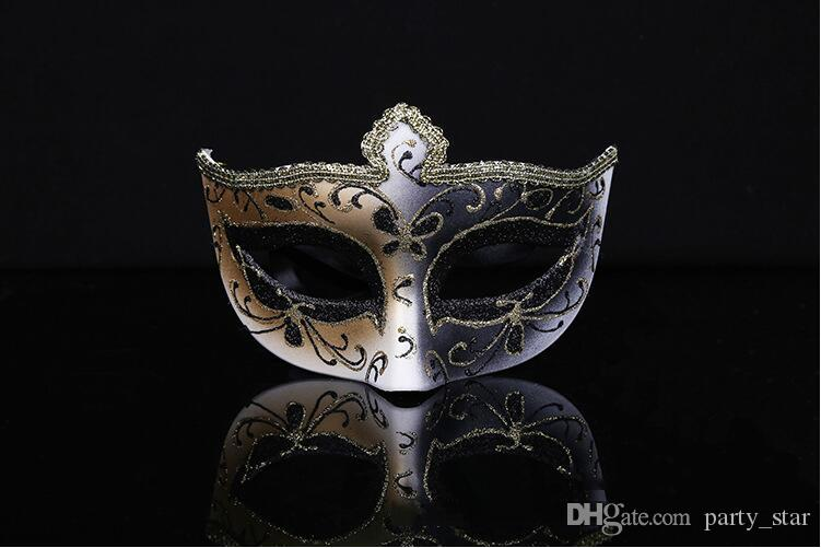 2016 Handmade Painted Halloween Party Masks High-grade Elegant Masquerade Carnival Venetian Face Masks Christmas Birtyday Party Show Masks