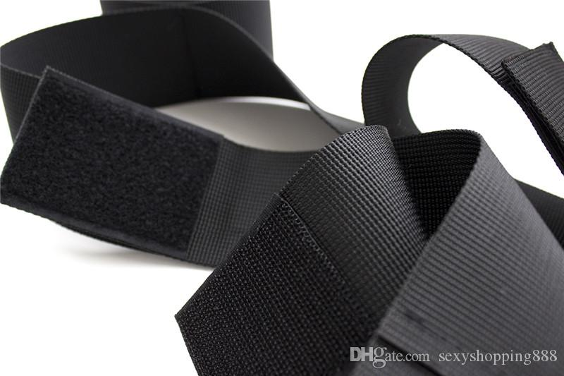 Handcuffs and Anklecuffs Wrist to Feet Cuffs Black bdsm Bondage Shackle Toys For Women Hogtie Menottes Adult Games Fantasy Sexy Products