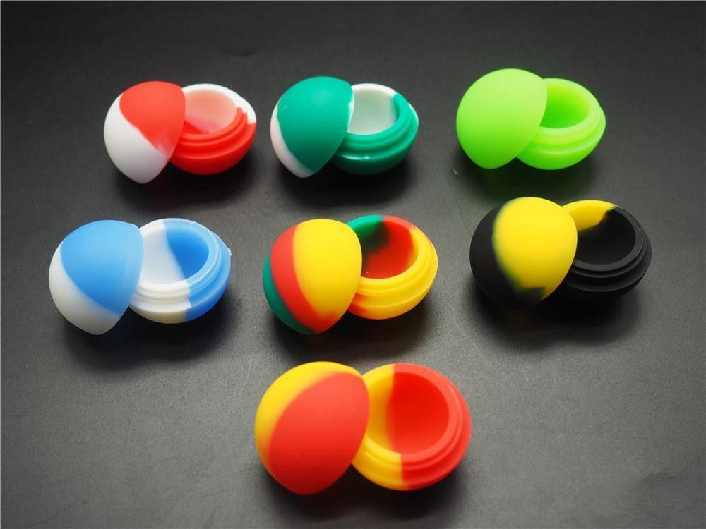 FDA 1000X qualidade não vara frascos de silicone recipiente de cera dabbutane hash recipiente de óleo de silicone para venda 5.6 ML cor Assorted