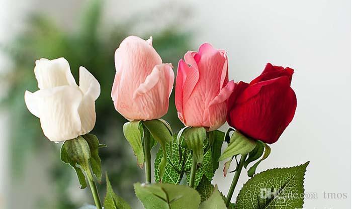 Frete grátis MOQ Fresco levantou Artificial Latex Flores real Toque Flores látex para exposição de flores da festa de casamento ou aniversário