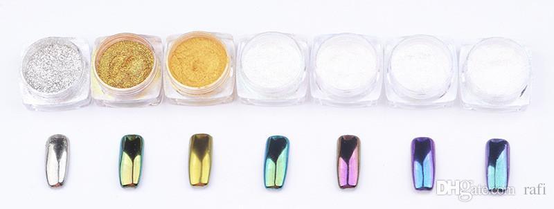 2016 new Colorful Nail Glitter Powder Shinning Mirror Effect Nail Makeup Powder Nail Art hot item