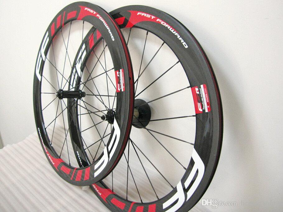 Ffwd Wheelset 60mm Powerway Fast Forward Carbon Bicycle Wheels Red Glossy Clincher Tubular Road Bike Wheelset