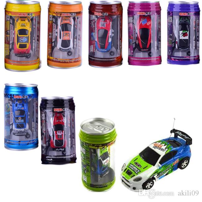 Multicolor Coke Can Mini Speed RC Radio Remote Control Micro Racing Car Toy Gift 8 Colors