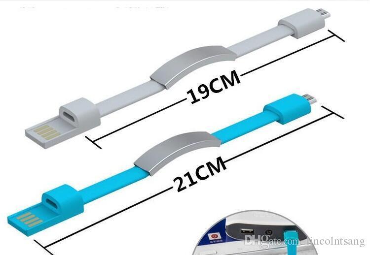 Короткие Горячие Плоский браслет Micro USB кабель провод 2,0 синхронизации данных зарядного шнура Line для сотовых телефонов