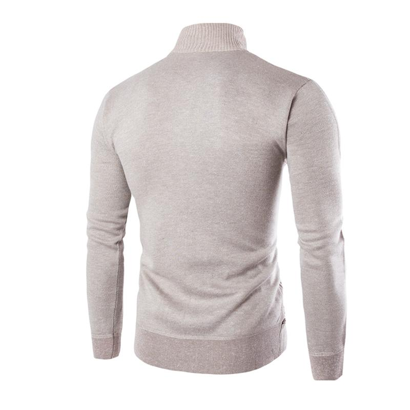 Cardigans zipper Sweaters Men Winter&spring Tops stand Collar Men slim Knitwear Masculino Men`s Casual Thick Warm Sweater