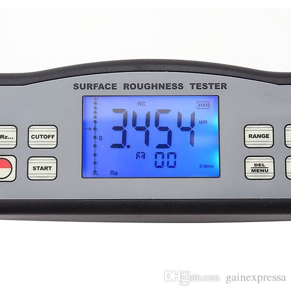 SRT-6210-EU 4 Parameters Digital Surface Roughness Tester Ra, Rz, Rq, Rt with Built-in Diamond pin probe +Metric / Imperial Conversion