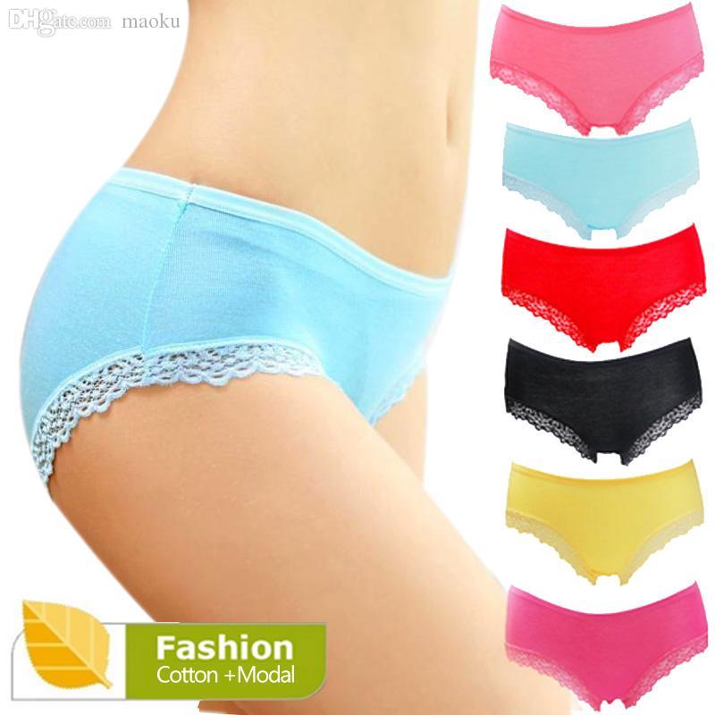 c0160284524c 2019 Wholesale Women'S Lace Panties Sexy Underpants Bamboo Briefs Fiber Nice  Ladies Underwear Women Lingerie Lace Panties For Women NK1003 From Maoku,  ...