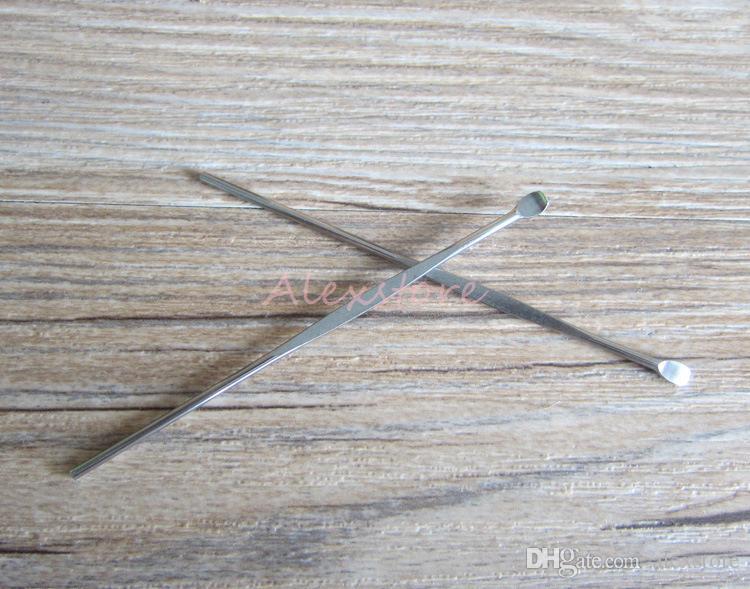 Wachs dabber werkzeuge zerstäuber tank edelstahl 80mm tupfen glas rauchen werkzeug für trockenen kraut titan nagel für vape stift silikon matte container