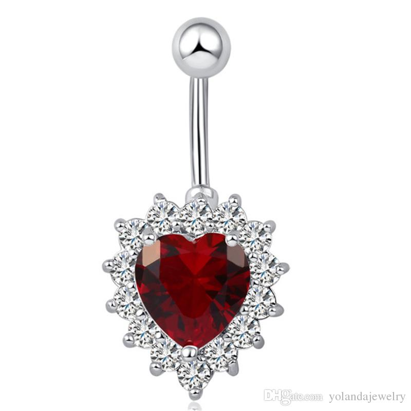2018 High End 18k White Gold Plated Shiny Aaa Big Red White Cubic