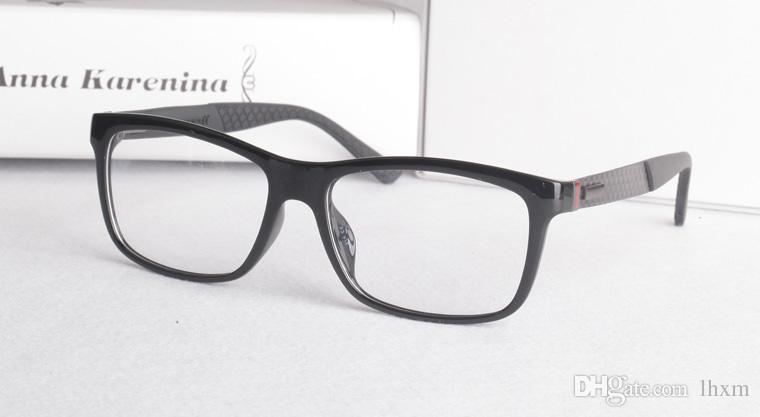 2017 Novo Produto De Fibra De Carbono Espelho Perna Super Light Plate Man's Short sighted Óculos de Armação de Moda Plana Óculos GG1045