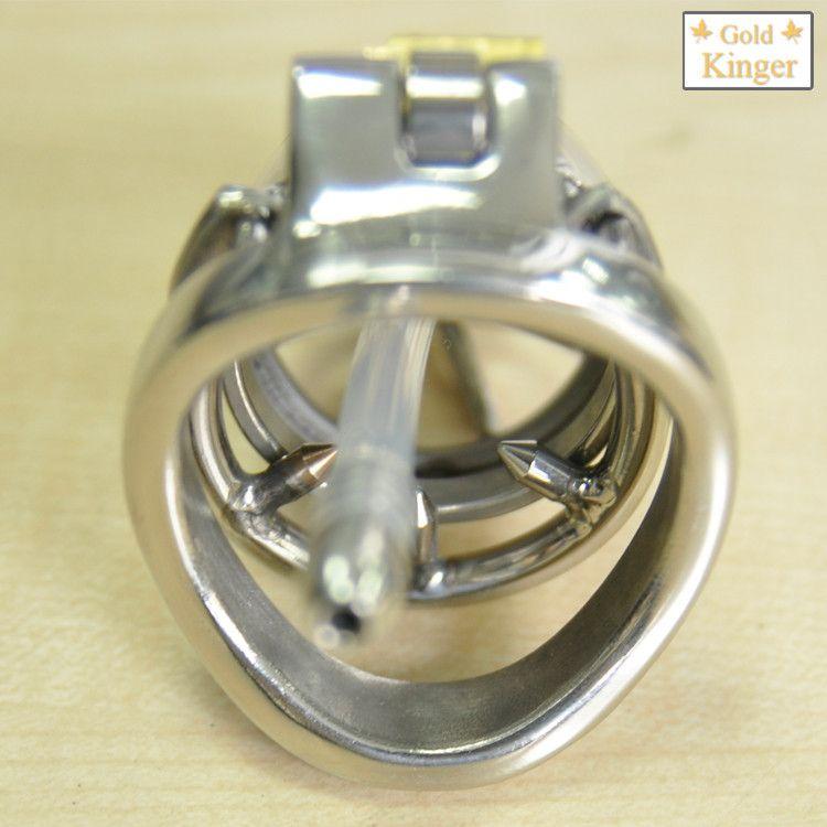Nouveau super petit mâle dispositif de chasteté 45MM adulte cage de coq avec le cathéter urétral BDSM Sex Toys ceinture de chasteté en acier inoxydable