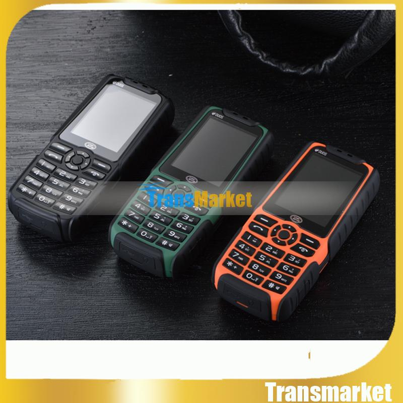 PK Xiaocai X6 XP3300 Rugged Phone With Strong Flashlight Shockproof Dual SIM GSM 4800Mah Battery Loud Speaker Power Bank Phone