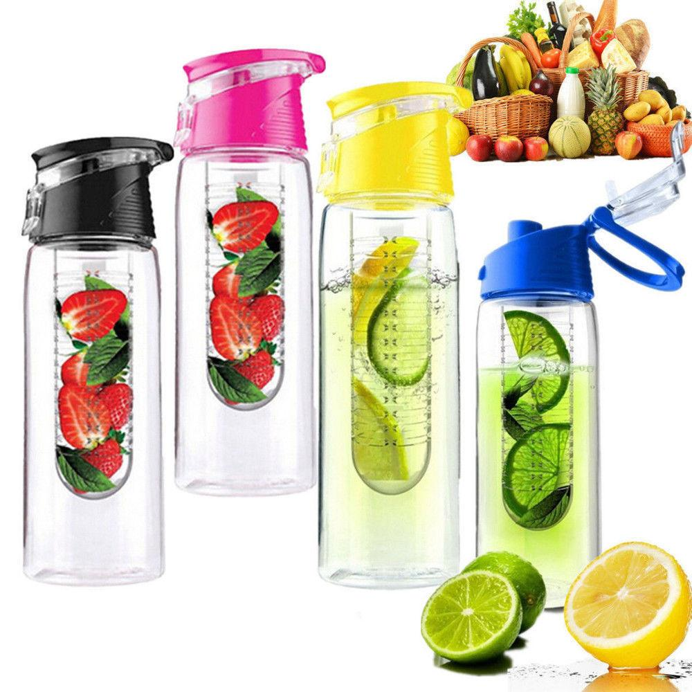 100pcs Fruit Infuser Water Bottle 700ml Sports Fitness Health Juice Flip Lid Fast Way 4 Colors Tritan Material Bottles Dhl Cpa004 New Infusd Sport