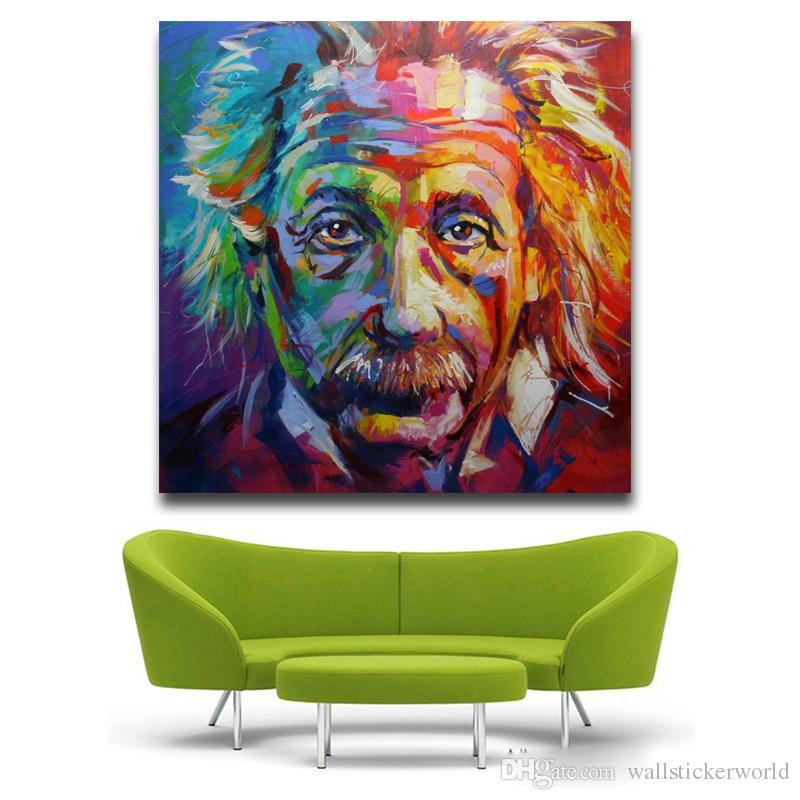 Albert Einstein Giclee Oil Painting Poster Pictures Canvas Painting Printed On Canvas Home Decor Wall Art No Framed