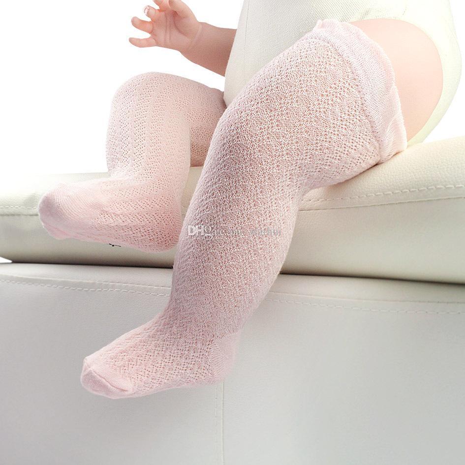 DHL Neonato Infantile Neonate Cotone Ginocchio Calze lunghe lunghe Calze estive Calze Regali XMAS WX-S14