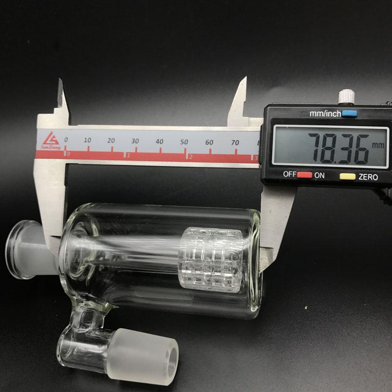 Glass Ash catcher for bongs 90 & 45 degrees 14.4mm 18.8mm matrix perc glass ash catcher bubbler Bong Oil rigs