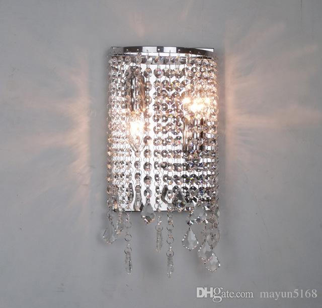 2019 Modern Crystal Wall Sconce Mirror Lights Bathroom Led