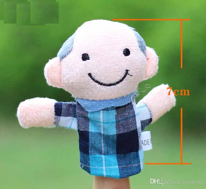 Family Members Hand Finger Puppets Toys Soft Plush Toy Gifts For Children