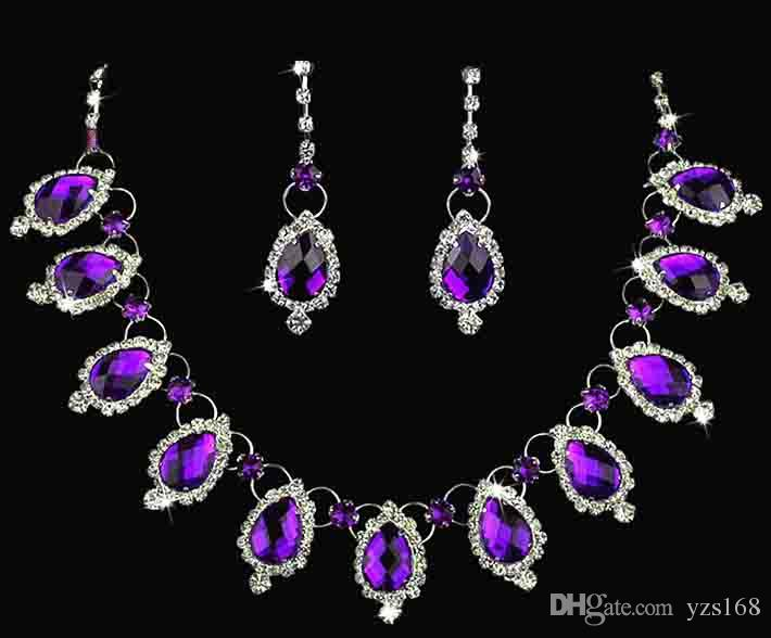 purple diamond hot bridesmaid inexpensive accessories sets and wedding arrive bridal gorgeous new earrings necklace product sell jewelry