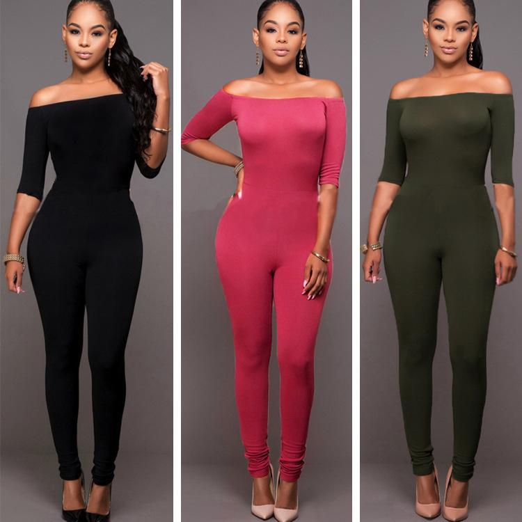 sexy black fitted jumpsuit