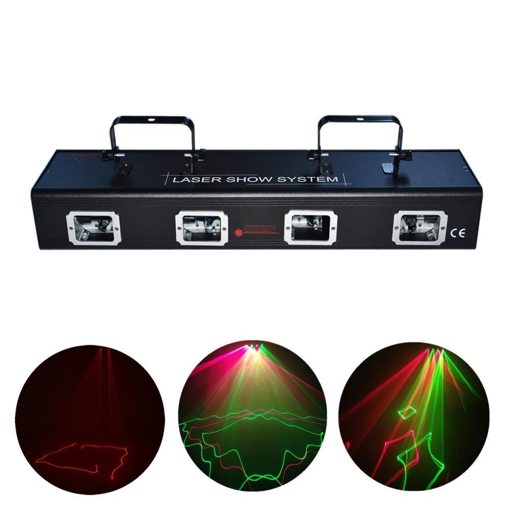 Aucd 4 Lens Red Green Laser 7ch Dmx Dpss Scanner Equipment Stage ...