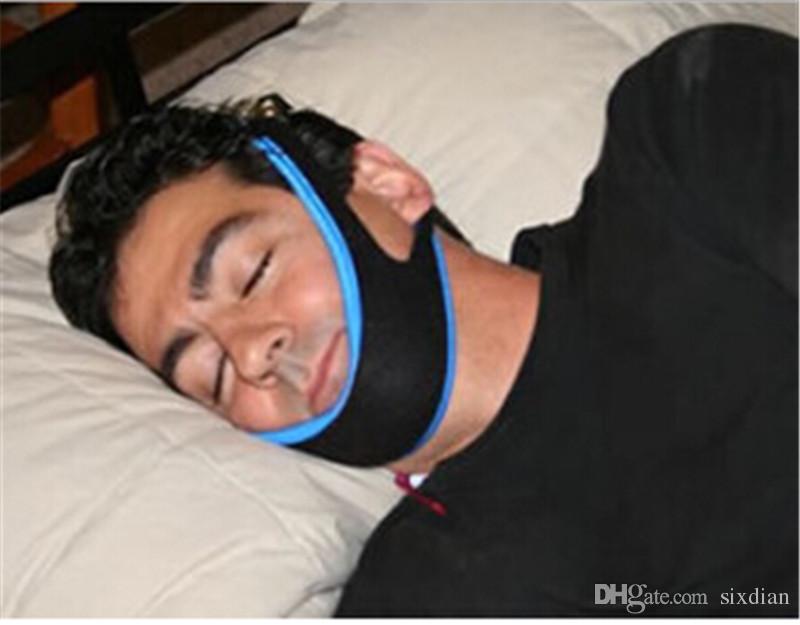 Anti ronquidos Correa de barbilla Neopreno Detener ronquidos Correa de barbilla Soporte Cinturón de solución contra la apnea para dormir Dispositivo para dormir Ronquidos