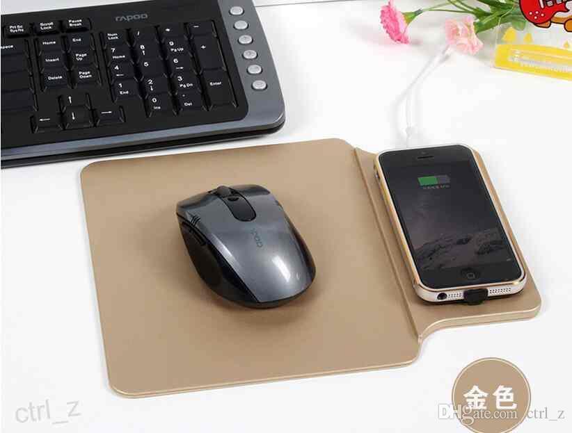 2016 Yeni Varış Mouse pad Qi Kablosuz Şarj Şarj Pad Samsung GALAXY S6 S7 kenar iphone 6 5 se artı