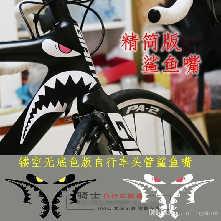 Best New Arrival Bicycles Decorative Shark Mouth Sticker
