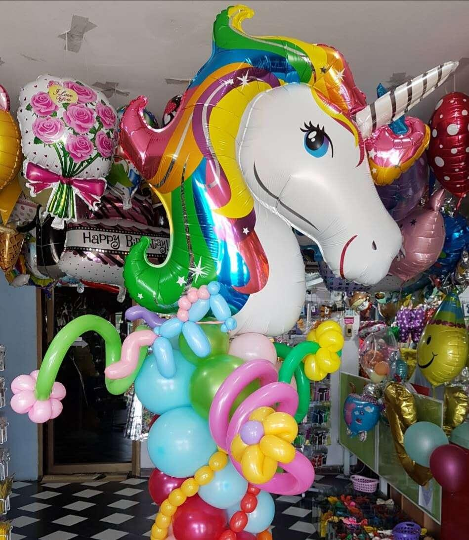 Anagram Rainbow Unicorn Aluminum Foil Balloons Birthday