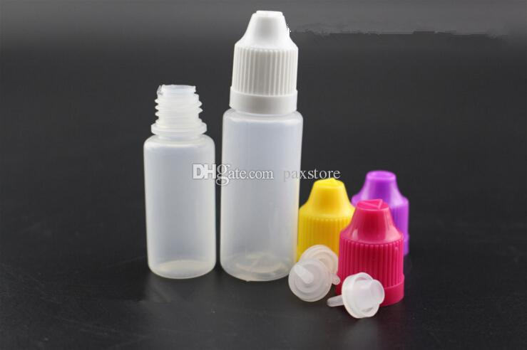 Ecig Empty Dropper E Liquid Juice Plastic Bottle 5ml 10ml 15ml 20ml 30ml 50ml with Child Proof Needle Cap Factory Price DHL FREE