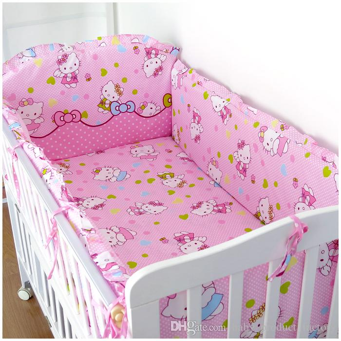 Promotion! Bedclothes For Baby Cribs And Cots For New Born Bed Baby Boy Bedding Set ,include4bumpers+sheet+pillowcase