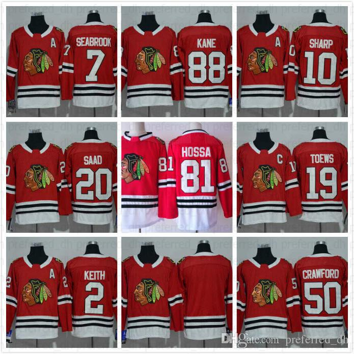Youth Jonathan Toews Jersey Chicago Blackhawks Toews Jerseys 19 Kids Red  White Black Green Boys Cheap Hockey Jersey C Patch S XL UK 2019 From  Preferred dh 011a706f5