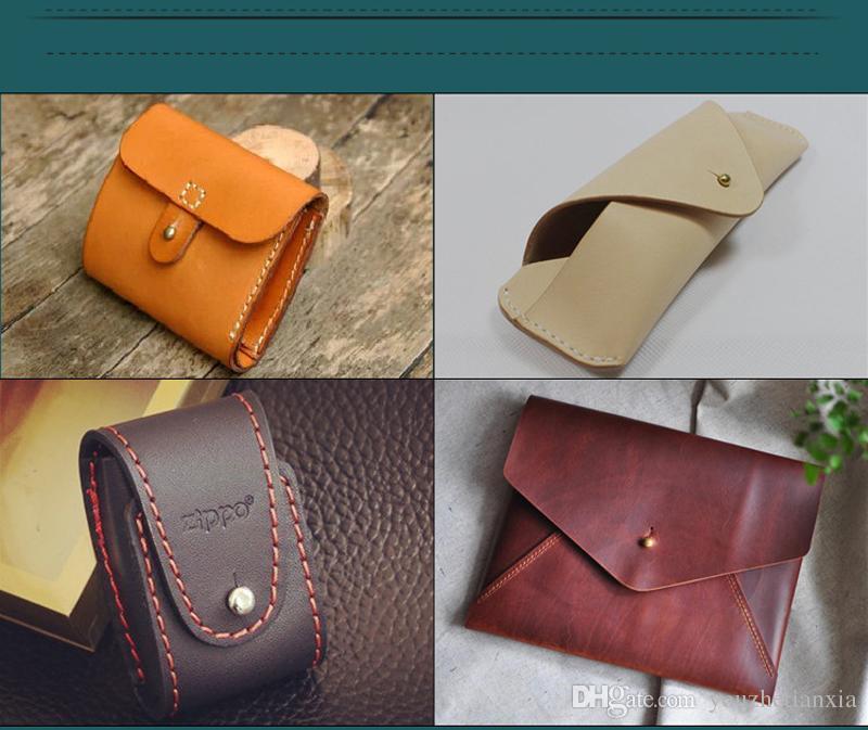 Настроить латунный кошелек сумка винтовой ремень заклепки Pacifier Nail Head Monk DIY Handmade кожаная сумка ключевой корпус декоративные ногти оборудование