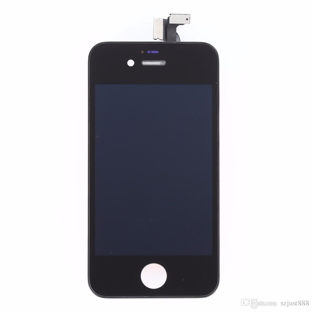 White Black LCD For Apple iPhone 4s LCD Display Touch Screen Digitizer Assembly With Frame+Free Shiping