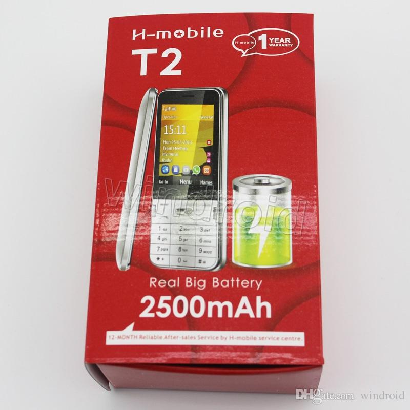 """Cheap H-Mobile T2 2.8"""" Mobile Phone Dual Sim Quad Band 2G GSM unlocked Phone Back Camera with Flash light Bluetooth FM MP3 no system"""