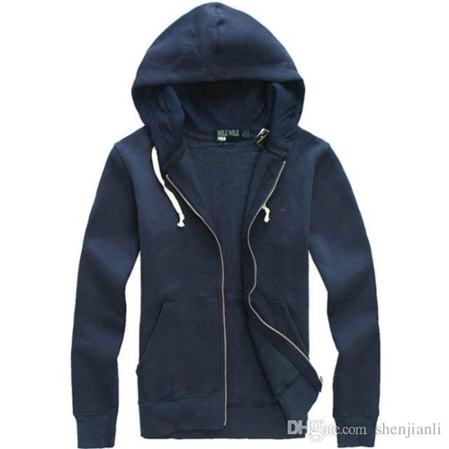 Ücretsiz kargo 2017 yeni Sıcak satış Mens polo Hoodies ve Tişörtü sonbahar kış rahat bir kaput ile spor ceket erkek hoodies